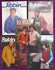 Robin Knitting Patterns Mens Sweaters Cardigans - Choose from Drop-down Menu