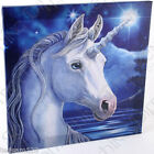 STUNNING -  ' SACRED UNICORN CANVAS '   - BY LISA PARKER  - FRAMED ON WOOD -  BN