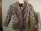 WOMANS COTTON VELVET LEOPARD CHEETAH PRINT BLAZER TALBOTS PETITE PLUS 14WP $209