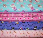 HELLO KITTY #6  FABRICS Sold INDIVIDUALLY NOT AS A GROUP By the HALF YARD