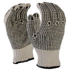 SDI 240 Pairs Natural 7 Gauge Poly Cotton Double Side PVC Dots Work Safety Glove