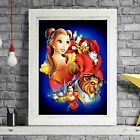 BEAUTY & THE BEAST - Disney Poster Picture Print Sizes A5 to A0 **FREE DELIVERY*