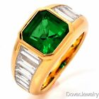 Tiffany Co. GIA Certified 5.02ct Emerald Diamond 18K Gold Ring 13.2 Grams NR