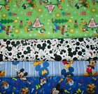 MICKEY MOUSE #3  FABRICS Sold INDIVIDUALLY NOT AS A GROUP By the HALF YARD
