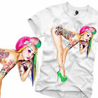 E1SYNDICATE T SHIRT SEXY TATTOO PIN UP PORN PORNO STAR ROCKABILLY GOGO S/M/L/XL