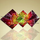 Large Abstract Floral Wall Art Print On Canvas Flower Petals Home Decor 3 Panels