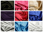 "Plain Solid Satin Stretch Fabric Material - 150cm (59"") wide - 10 Colours"