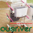Folding Portable Home Indoor Clothes 2 Layers Airer Drying Rack Garment Hangers