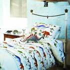 EMMA BRIDGEWATER DINOSAURS 100% COTTON DUVET COVER SET TWO SIZES. FREE DELIVERY