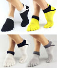 1Pair Men's Socks Cotton Meias Sports Five Finger Socks Toe Socks For EU 40-46 v