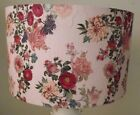 Vintage Floral Lamp Shade Pink, Roses Lampshade shabby chic FREE GIFT