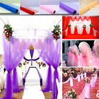 10 CM 33 Feet Soft Gauge Roll Chair Bows Table Runner Sash Wedding Party New