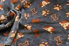 Double Sided Supersoft Cuddlesoft Fleece Fabric Material - DOG & BONE GREY