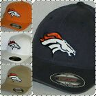 "Denver Broncos ""FLEX FIT"" Cap ✨Hat ✨CLASSIC NFL PATCH/LOGO ✨3 SIZES 4 COLOR ✨NEW on eBay"
