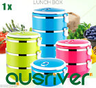 4 Layers Stainless Steel Portable Lightweight Food Container Lunch Box Microwave