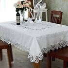 Lace Rectangle / Oblong Handcraft Dinning Tablecloth 6-8 chair 150cmX230cm White