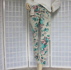 Italy CRUSH HOSE BAGGY ROSENPRINT BOYFRIEND JEANS Stretch Gr 36 38  NEU 308