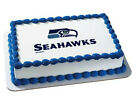 NFL Seattle Seahawks image cake topper frosting sheet icing #4635 $13.25 USD on eBay