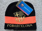 ADULT OFFICIAL BARCELONA BEANIE HAT Football Soccer calico New Tags Black Orange