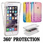 Shockproof 360° Silicone Protective Clear Case Cover For Apple iPhone 5 5c 6 6s