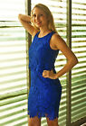 New Two Hearts Maternity Veronica Lace Nursing Dress in Cobalt