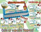 Oh the places you'll go! Edible Cake topper Graduation ideas easy sugar paper