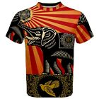 New Obey Elephant Sublimation Men's T-Shirt Sport Mesh Tee XS-3XL free shipping