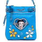 New Betty Boop Women Leather Messenger Crossbody Bag Purse Wallet Clearance Sale $21.32 USD