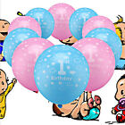 20Pcs Baby 1st First Birthday Ballons Printed Number 1 Boy Girl Party Decoration