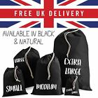 Strong Quality Storage Laundry Drawstring Cotton Bag Reusable Shopping Bags Lot