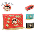 New Betty Boop® Women Leather Crossbody Bag Messenger Bag w/ Chain Clutch Wallet $8.79 USD