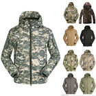 Men's Waterproof Softshell Breathable Outdoor Jacket Hooded Sports Camping Coat