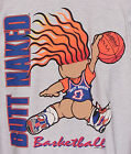 Vintage 1993 BUTT NAKED Troll BASKETBALL T-Shirt 2-Side Print NWT NEW Old Stock