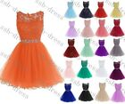 Short Sexy lace Formal Prom/Bridesmaid Cocktail Party Evening Dress Size 6-22