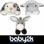 Zazu Animal Soft Toy Comforter with Heartbeat Sound - Donkey, Lamb & Dog BNIB 0+