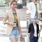 Elegant Women Long Sleeve Casual One Button Business OL Suit Blazer Coat Jacket