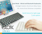 Wired + Bluetooth 7 Color Illuminated Backlit Keyboard iOS Mac Android Windows