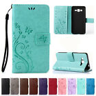 Butterfly Pattern PU Leather Wallet Card Stand Case Flip Cover For Samsung Phone