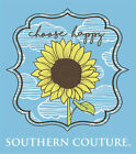 Southern Couture Preppy Choose Happy Sunflower Bright Girlie T-Shirt