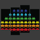 SPACE INVADERS CANVAS WALL ART PICTURE PRINT VARIETY OF SIZES