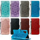 Luxury Flip Case Flower PU Leather Wallet Cover For Samsung Note 10 Plus