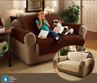 Furniture Sofa Protector Luxury Quilted Throw Chocolate, Cream, Black, Burgundy