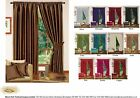Faux Silk Readymade Pencil Pleated Modern Fully Lined Curtains