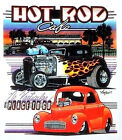 Hot Rod Cafe Ford Willys Gasser Tee Shirt T-Shirt Classic Car