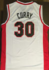 Stephen Curry Steph Curry #30 Davidson Basketball Jersey Stitched Men White NWT