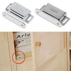 Furniture Cupboard Wardrobe Cabinet Magnetic Catch Door Stop Holder Latch Silver