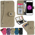 New 4 Slots Card holder pocket Flip Folio Case Cover For iPhone 6 /7/6S/7 Plus