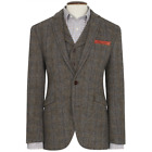 New Wool Premium Mens Sumburgh Harris Tweed Jacket Coat Uk - Sizes 36s To 48l