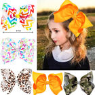 Внешний вид - 8 Inch Large Girls Hair Bows Grosgrain Ribbon Knot Large With Clip