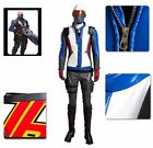 Overwatch Soldier 76 Jacket Costume PU Outfit Mask Belt Golves Cosplay Halloween
